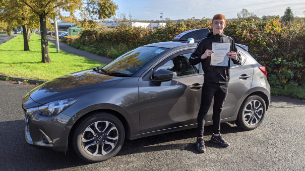 Adam from Gorseinon passed his test in Swansea. Helped by Mike Nixon