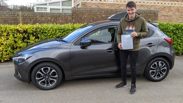 Tom from Tregof passed his test in Swansea. Helped by Mike Nixon